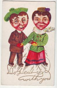 P126 JLs 1907-15 antique comic postcard colorful embossed
