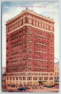 Chicago Illinois~Fort Dearborn Hotel~c1910~VO Hammon Artist Conception~Postcard