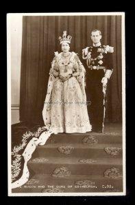 r4167 - Coronation Souvenir - The Queen with the Duke of Edinburgh - postcard