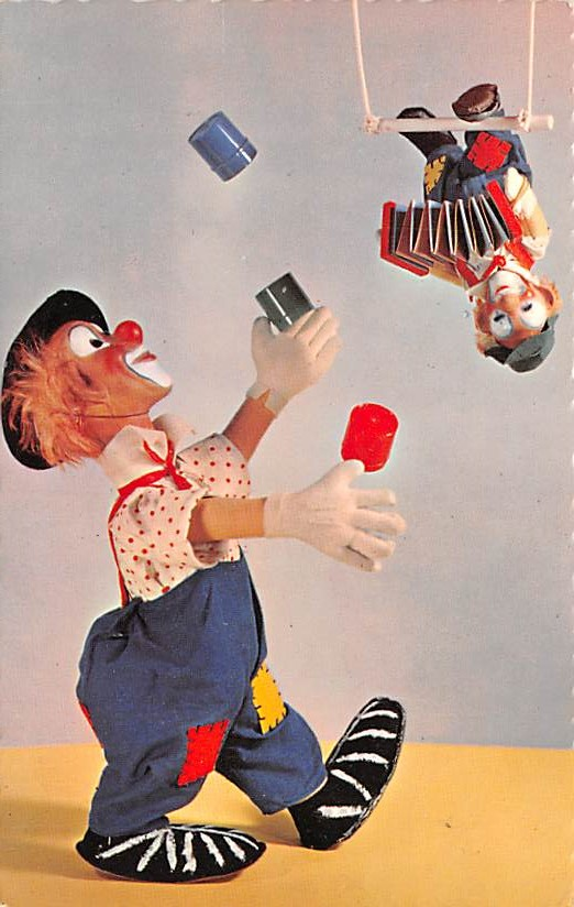 Circus Clowns Acts Old Vintage Post