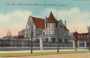 CHICAGO, Illinois, 1900-10s ; Mrs August Lehman's home on Lake Park avenue