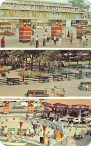 York Beach ME Funland Park Amusement Park Multi-View Postcard