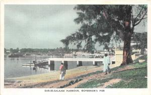 br104351 dar es salaam harbour governors pier africa real photo tanzania