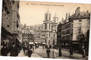 CPA SEDAN - Place Crussy et Place d'Armes (241257)
