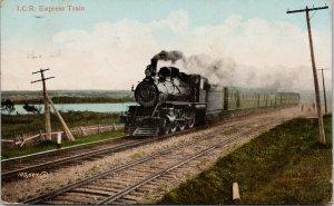 ICR Express Train Intercolonial Railway Charleroy Cancel Postcard G99