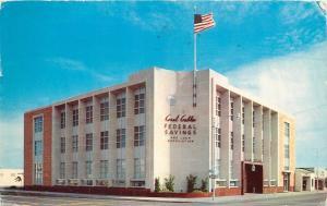 Coral Gablies Florida~Federal Savings And Loan Association~Flag Over Corner~1958