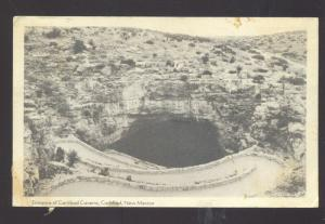 CARLSBAD NEW MEXICO ENTRANCE CAVERNS CAVE VINTAGE POSTCARD N.M