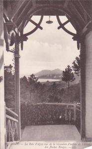 France Agay La Baie d'Agay vue de la verandah d'entree de l'Hotel des Roches ...