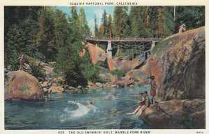 SEQUOIA National Park ., California , 1910s ; Swimmin' Hole , Marble Fork River