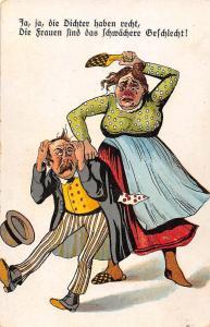 Ja, ja, die Dichter haben recht... Women weaker sex ? Comic, Angry Wife Fight