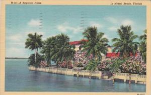 Florida Miami Beach Beautiful Bayfront Home 1941 Curteich