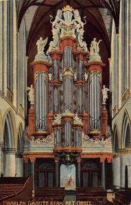 Netherlands Haarlem Groote Kerk het Orgel Church Interior Postcard
