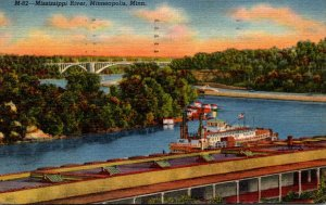 Minnesota Minneapolis Mississippi River Showing Northern Terminal Of Federal ...