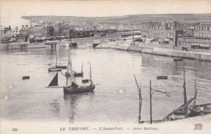 LE TREPORT, Seine Maritime, France, 1900-1910's; L'Avant-Port, Inner Harbour