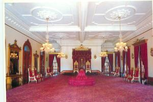 Postcard Throne Room Iolani Palace Bishop Museum Hawaii King Kalakaua   # 3618A