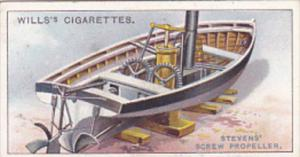 Cigarette Card Wills Famous Inventions 1915 No 14 Steven's Screw Propeller