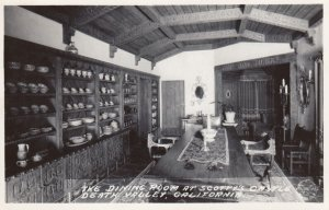RP: DEATH VALLEY , California , 1930-40s ; Scotty's Castle , Dining Room
