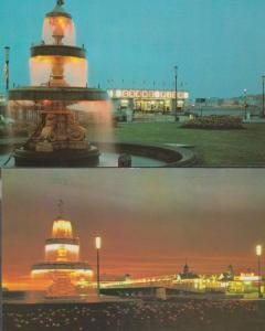 Weston Super Mare Illuminations 2x 1970s Postcard s