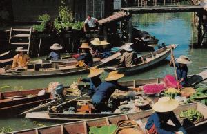 Thailand , 50-60s : Floating Market, Damnoen Saduak