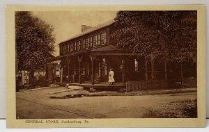 Soudersburg Pa General Store c1908 Pennsylvania Postcard F6