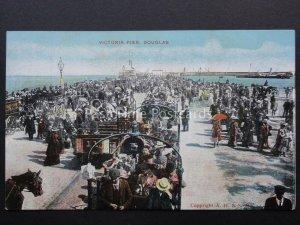 Isle of Man DOUGLAS Victoria Pier - Old Postcard by G.D.& D.L.