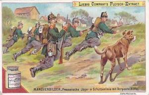 LIebig Vintage Trade Card 1896 Armies On Manoeuvre S483 Preussische Jaeger