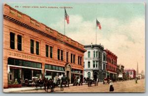 Santa Barbara CA~Main Street~Diehl Grocery~Trenwith Dry Goods~Mannequin~c1910