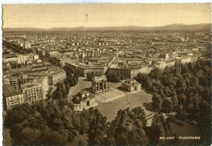 Italy, Milano, Panorama, 1940s unused Postcard