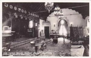 California Death Valley The Music Room Death Valley Scottys Castle Real Photo