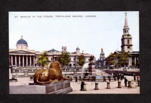 UK Martin in the Fields Trafalgar Square London England Great Britain Postcard