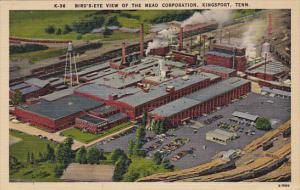 Birds Eye View Of The Mead Corporation Paper Company Kingsport Tennessee