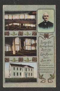 Rocky Hill Historic Meeting House Postcard Antique Unused