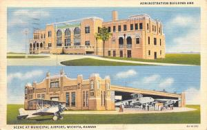 Wichita Kansas~City Art Deco Airport Admin Bldg~Hangar @ Air Capitol~1-Prop 1936