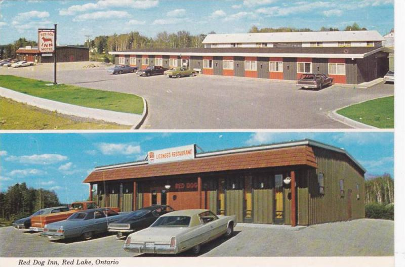 2-views, The Red Dog Inn, Red Lake, on Hwy 105,  Ontario,   Canada,  50-70s