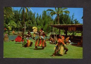 HI Hawaii Postcard Fijians Meke Dancers Polynesian Laie Cultural Center Oahu
