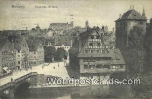 Nurnberg Germany, Deutschland Postcard Maxburcke mit Burg  Maxburcke mit Burg