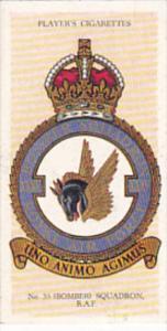 Cigarette Card Player and Sons R AF Badges 1937 No 25 # 35 Bomber Squadron