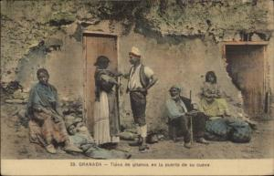 Granada Island or Spain - Natives Tipos de Gitanos c1910 Postcard