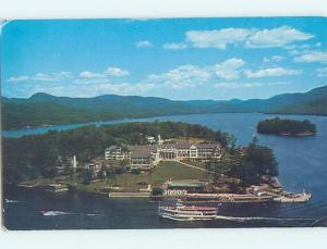 Pre-1980 SAGAMORE HOTEL ON GREEN ISLAND Bolton Landing - Lake George NY B2441