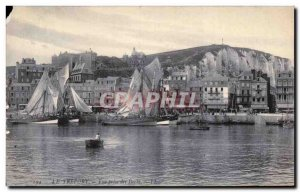 Treport - taking view of the Docks - Old Postcard