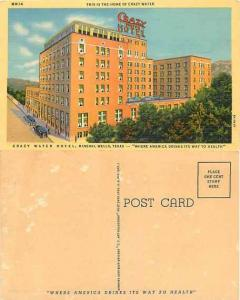 Crazy Water Hotel, Mineral Wells, Texas, TX, Linen