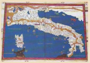 Map Carta dell'Italia Biblioteca Apostolica Vaticana