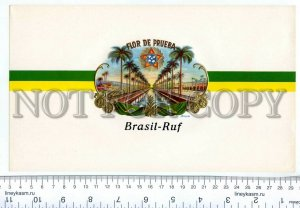 500071 BRASIL RUF Vintage embossed cigar box large label
