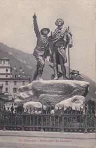 France Chamonix Mont Blanc Monument de Saussure