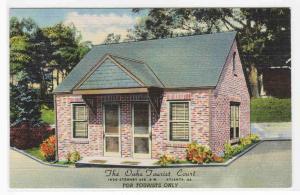 Oaks Tourist Court Motel US 41 Atlanta Georgia linen postcard