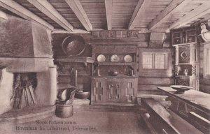 Norge. Norsk Folkemuseum , 1900-10s ; Hovestuen fra Lilleherred , Telemarken