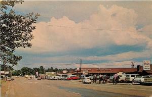 Pinetop Arizona~Country Store~Chevron~Charlie Clarks Steaks~1950s Postcard