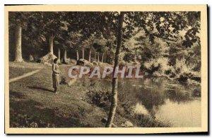 Old Postcard Pont Aven Le Bois d'Amour
