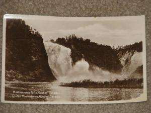RPPC, Montmorency Falls & Chutes, Quebec, Canada, 1920`s, used