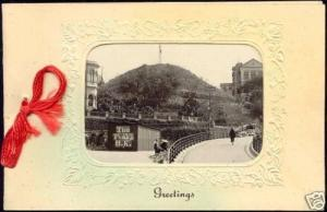 china, HONG KONG, The Peak (1910s) Christmas & New Year, Real Photo